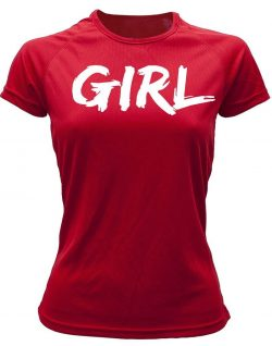 Camiseta girl roja