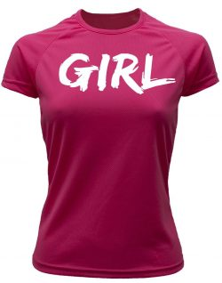 Camiseta running rosa girl