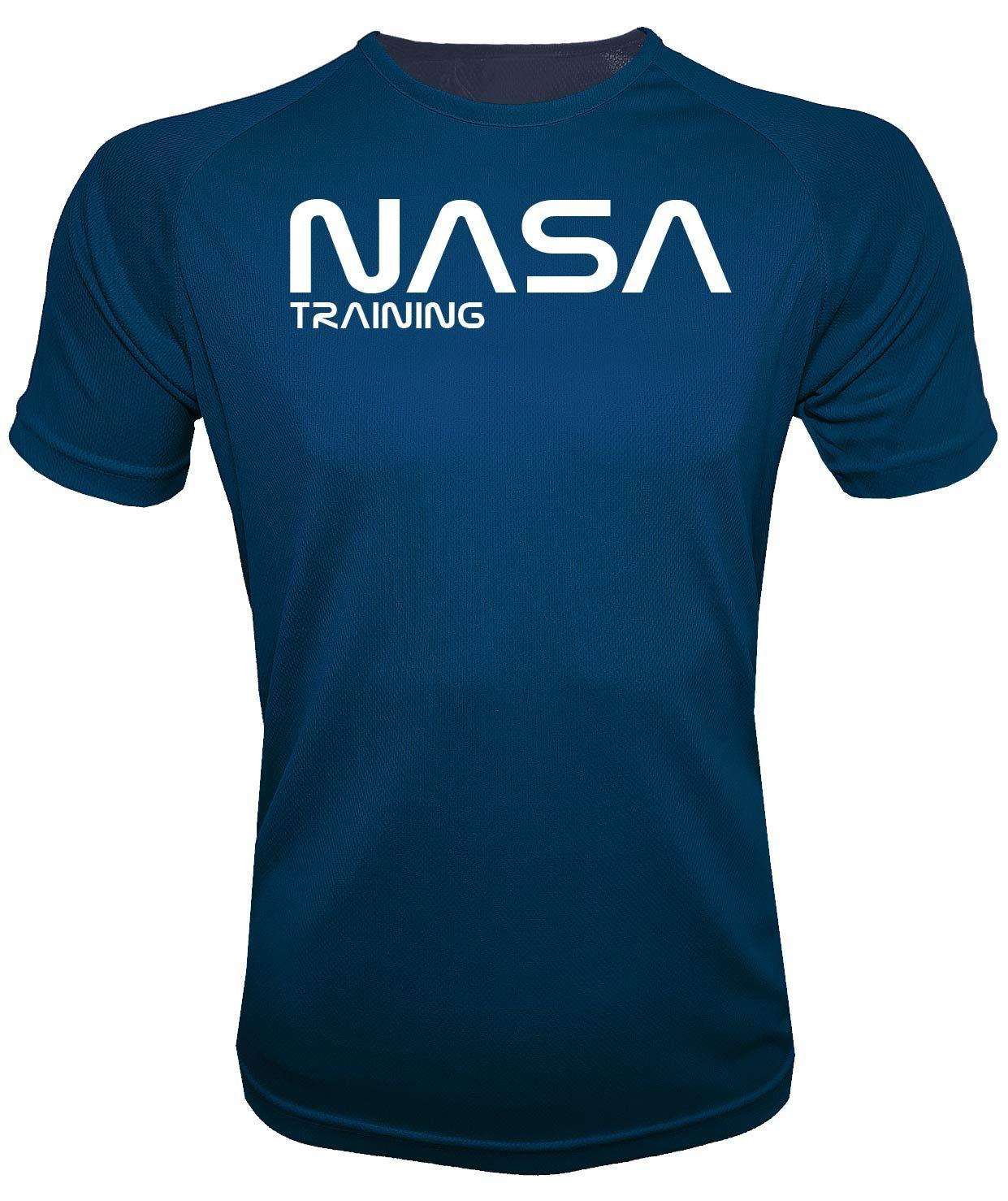 mejor sitio web a957a 34b54 Camiseta Running hombre Nasa Azul Marino