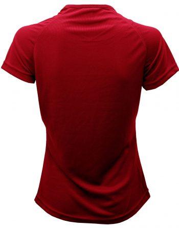 Camiseta por detrás roja girl