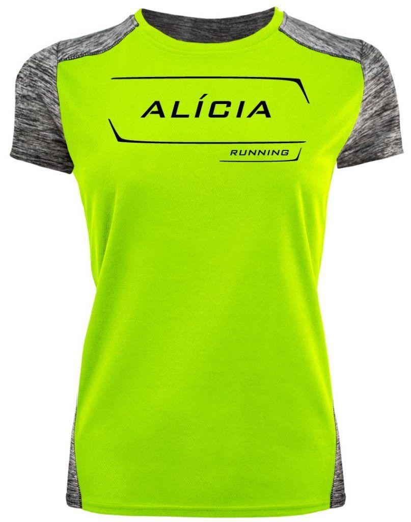 camiseta running personalizada alicia