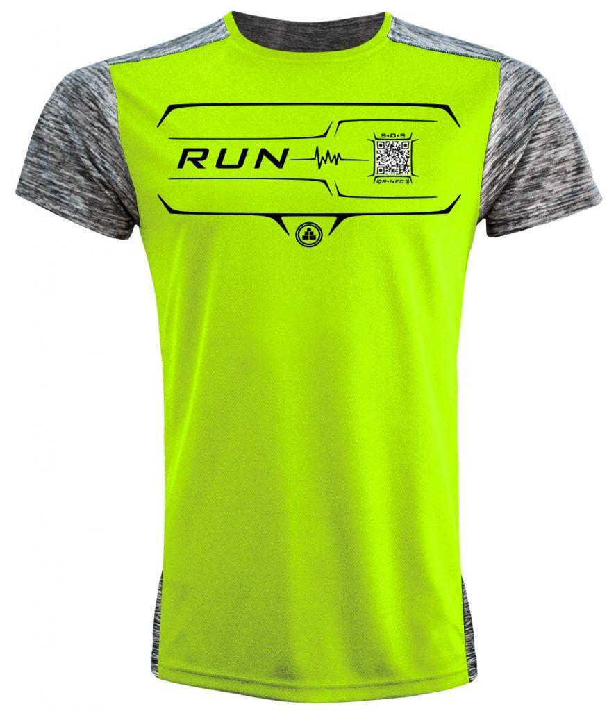 Camiseta Running Inteligente flúor hombre