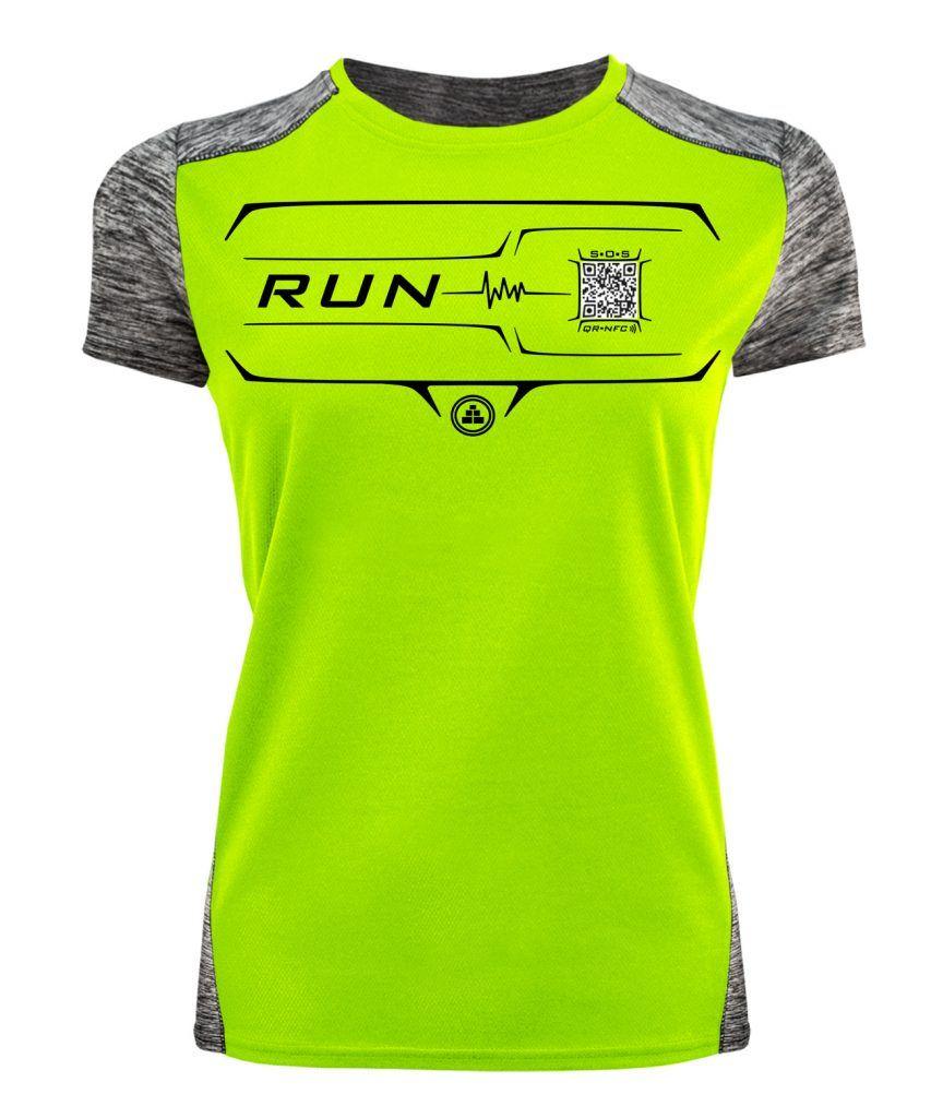 Camiseta Running Inteligente flúor mujer