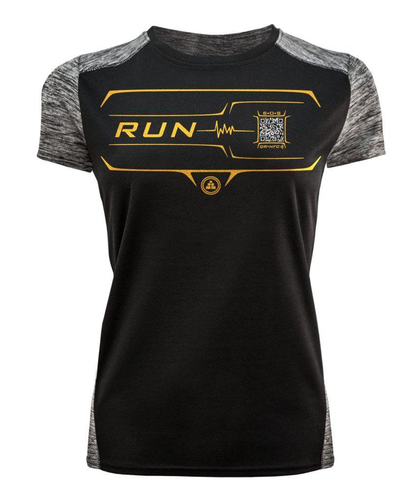 Camiseta Running Inteligente negra mujer